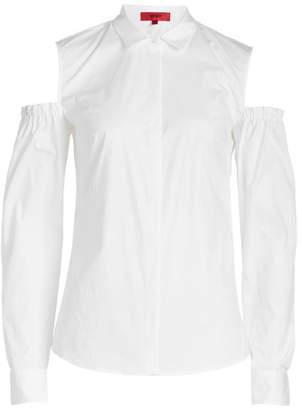 HUGO Emba Cold Shoulder Cotton Blouse