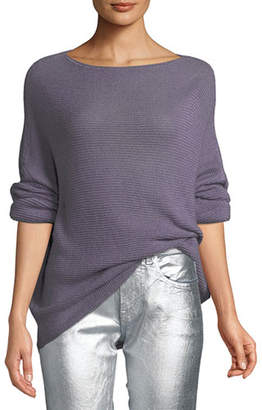Ralph Lauren Boat-Neck Dolman-Sleeve Cashmere Sweater