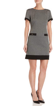 Tommy Hilfiger Diamond Pattern Shift Dress
