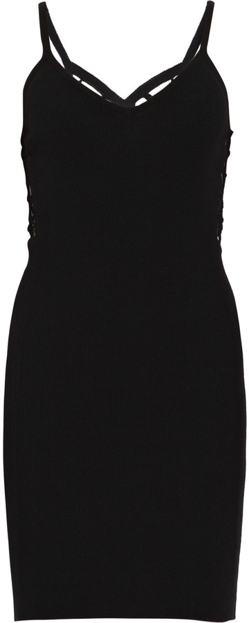 Helmut Lang Crochet-back knit dress
