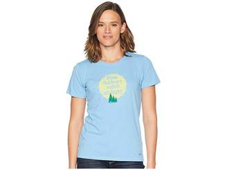 Life is Good Outdoors Makes Me Happy Crusher T-Shirt