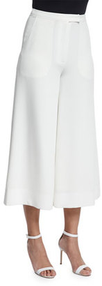Elizabeth and James New Presli Cropped Trousers, Ivory $345 thestylecure.com