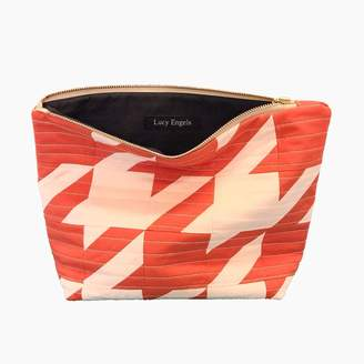 Lucy Engels Rita - Quilted Makeup Bag - Red Pale Pink