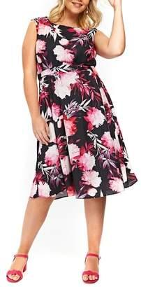 Evans Tropical Floral Dress