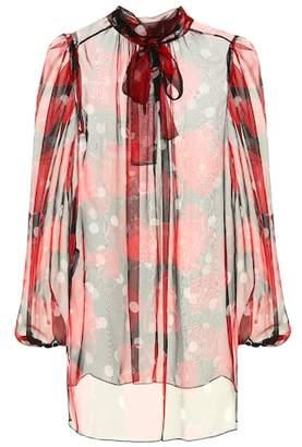 Dolce & Gabbana Floral silk chiffon blouse