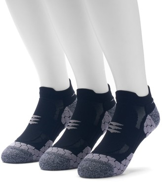 Gold Toe Goldtoe Men's GOLDTOE 3-pack Power Sox Apex Pro Double-Tab No-Show Socks