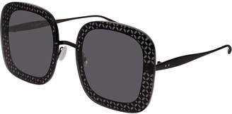 Alaia Perforated Metal Square Sunglasses