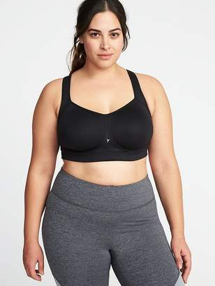 Old Navy High-Support Plus-Size Mesh-Racerback Sports Bra