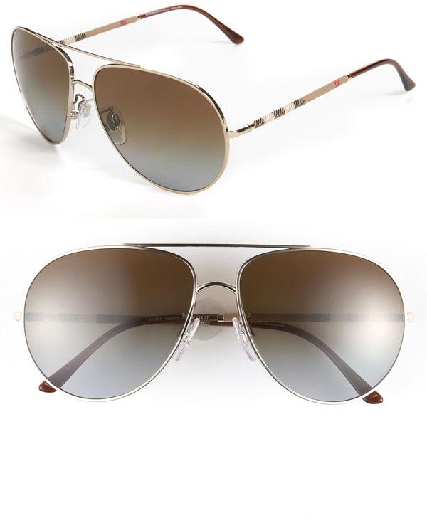 Burberry Polarized Aviator Sunglasses
