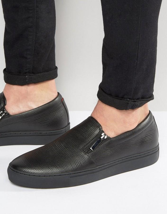 Hugo BossHUGO by Hugo Boss Futurism Double Zip Slip On Sneakers