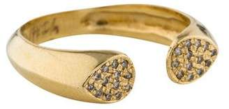 Jacquie Aiche 14K Diamond Flat Tip Open Ring