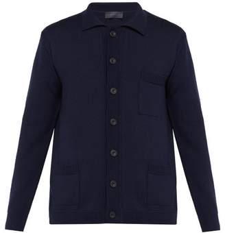 Thom Sweeney - Patch Pocket Merino Wool Cardigan - Mens - Navy