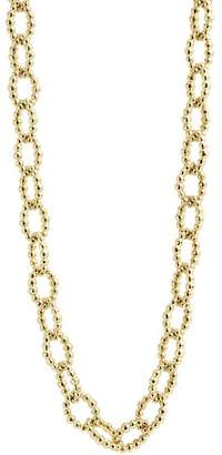 """Lagos Caviar Gold Collection 18K Gold Fluted Oval Link Necklace, 24"""""""