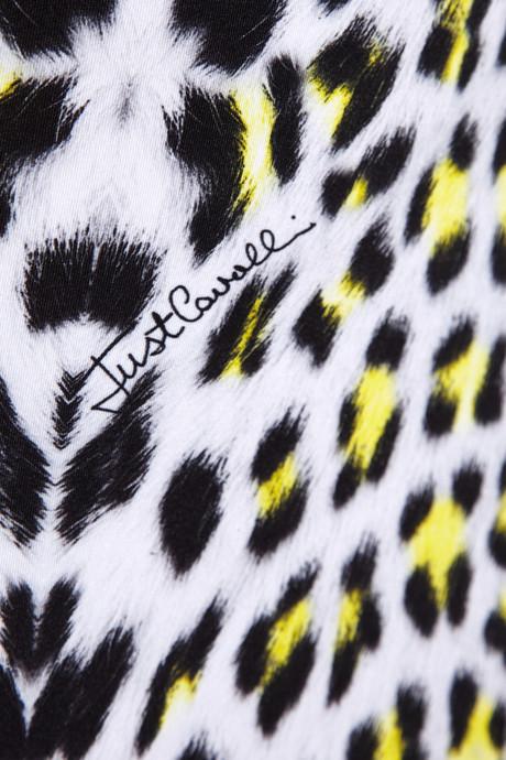 Just Cavalli Leopard-print stretch-satin jersey dress