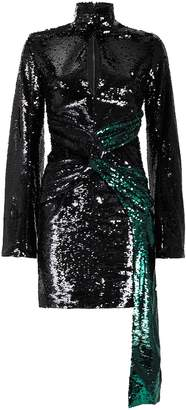 16Arlington Catherine Long Sleeve Sequin Mini Dress