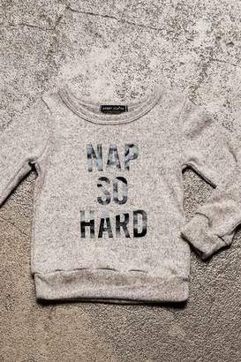 Sweet Claire Nap So Hard Brushed Fleece Sweatshirt