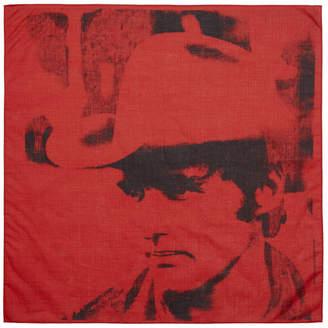 Calvin Klein Red Dennis Hopper Bandana Scarf