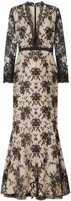 Alexander McQueen Satin-trimmed Cotton-blend Lace Gown