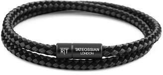 Tateossian RT Men's Two-Tone Double-Wrap Bracelet, Black