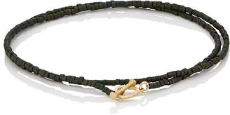 Luis Morais Men's Beaded Double-Wrap Bracelet