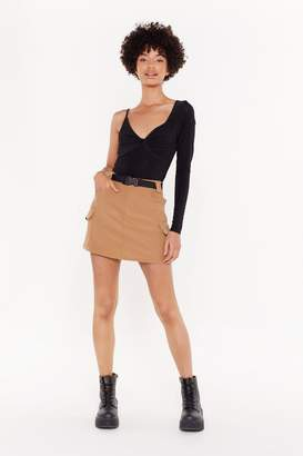 Nasty Gal Driver's Seat Belted Utility Mini Skirt
