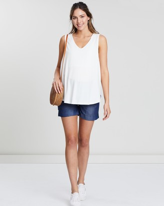 Angel Maternity Maternity Mid Waist Summer Cotton Shorts