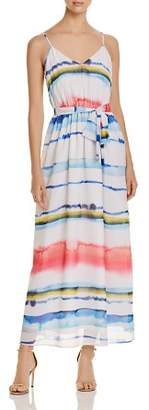 Catherine Malandrino Cody Watercolor Stripe Maxi Dress
