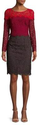 NUE by Shani Floral Lace Sheath Dress
