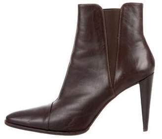 Stephane Kelian Leather Pointed-Toe Ankle Boots