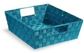 Distinctly Home 11.75-Inch Teal Woven Storage Box