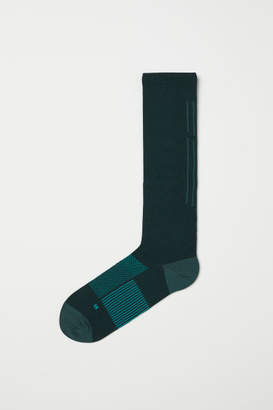 H&M Knee-high Sports Socks - Green