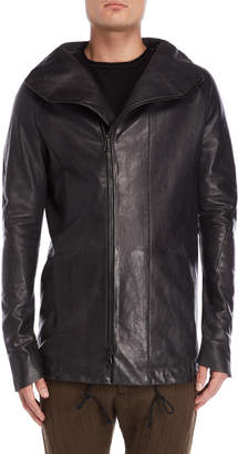 Masnada Hooded Leather Jacket