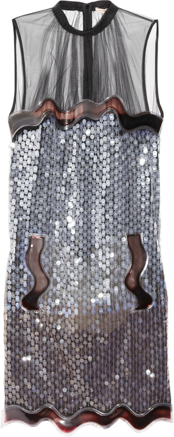Christopher Kane Alexa sequined tulle dress