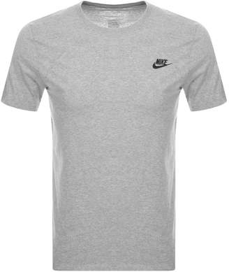 Nike Crew Neck Club T Shirt Grey
