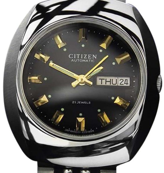 CitizenCitizen 21-Jeweled Day Date Automatic Stainless Steel Vintage Mens Watch 1970