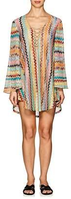 Missoni Mare Women's Lace-Up Zigzag-Knit Mini Coverup