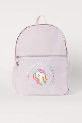 H&M Backpack with Printed Design