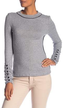 Laundry by Shelli Segal Scrunch Sleeve Crew Neck Top