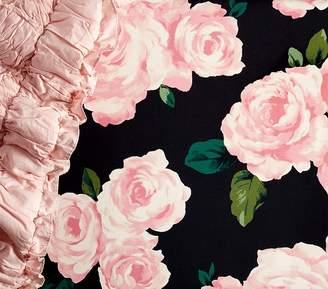 Pottery Barn Kids Organic The Emily & Meritt Roses Crib Fitted Sheet, Black Multi