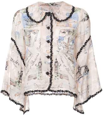 Anna Sui Mementos of London top