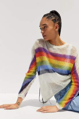 Urban Outfitters Rainbow Stripe Pullover Sweater