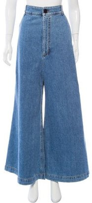 Marni High-Rise Wide Leg Jeans