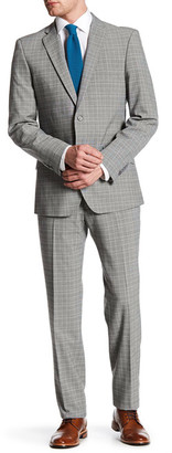 English Laundry Grey Glen Plaid Two Button Notch Lapel Suit $395 thestylecure.com