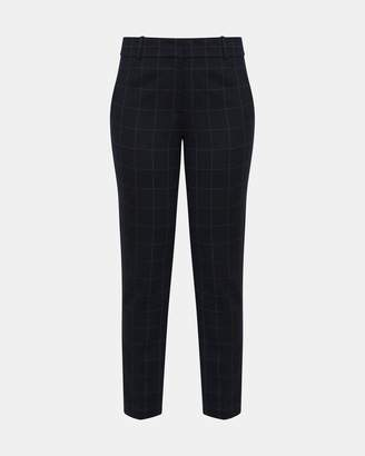 Theory Plaid Knit Straight Trouser