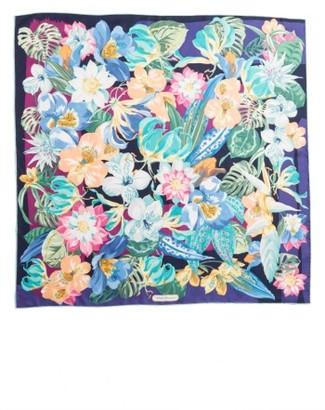 Women's Salvatore Ferragamo Nettare Floral Silk Scarf $380 thestylecure.com