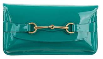 Gucci Patent Bright Bit Clutch