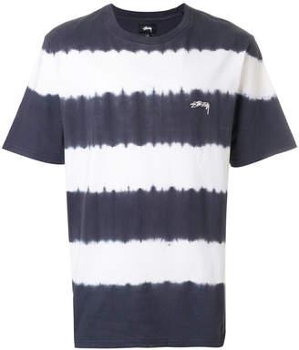 Stussy striped logo T-shirt