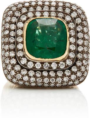 Amrapali 14K Gold, Emerald And Diamond Ring Size: 7