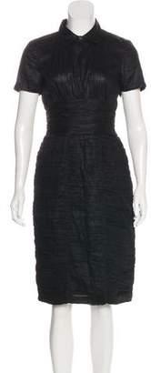 Burberry Ruched Midi Dress