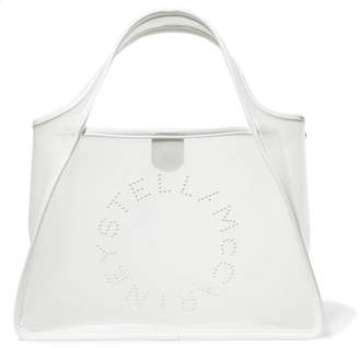 Stella McCartney Faux Leather-trimmed Pu Tote - White